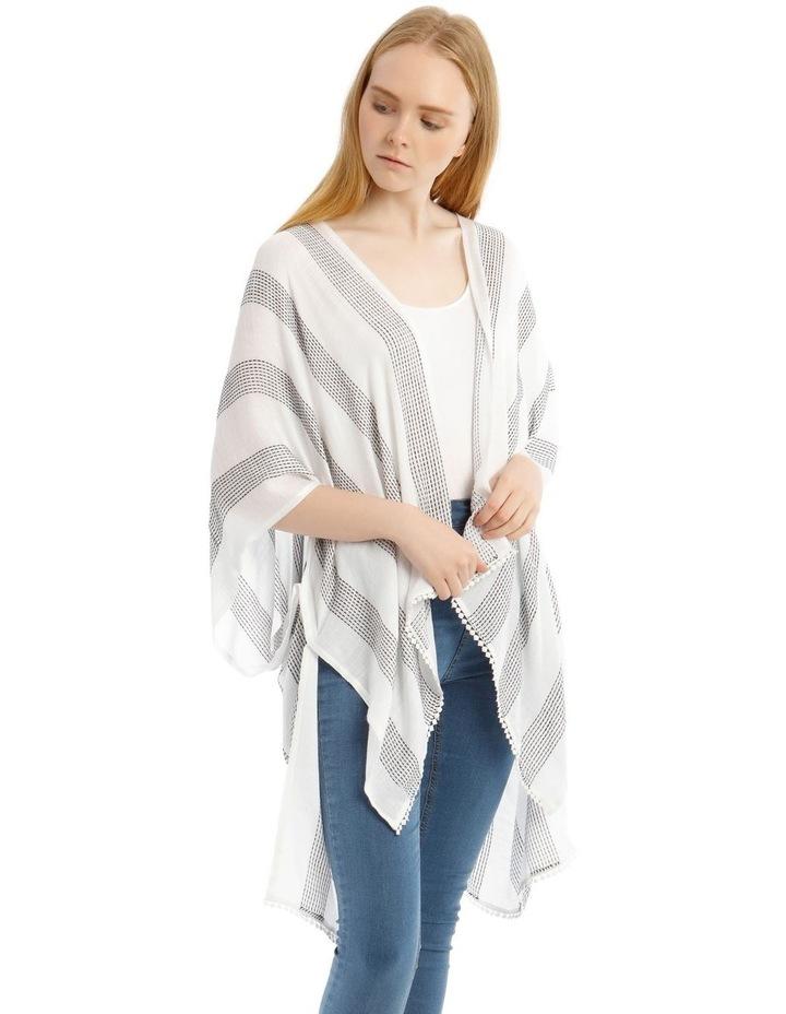 Striped Woven Wrap Kaftan image 1