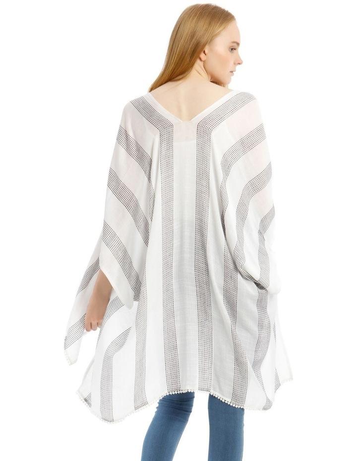 Striped Woven Wrap Kaftan image 2