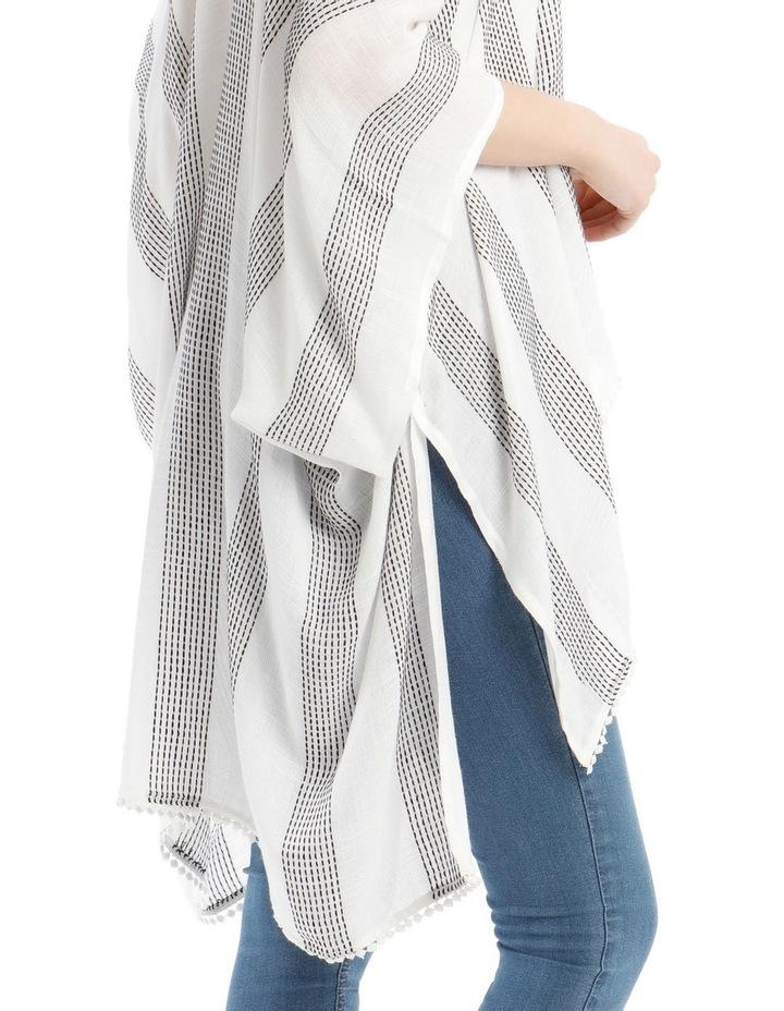 Striped Woven Wrap Kaftan image 3