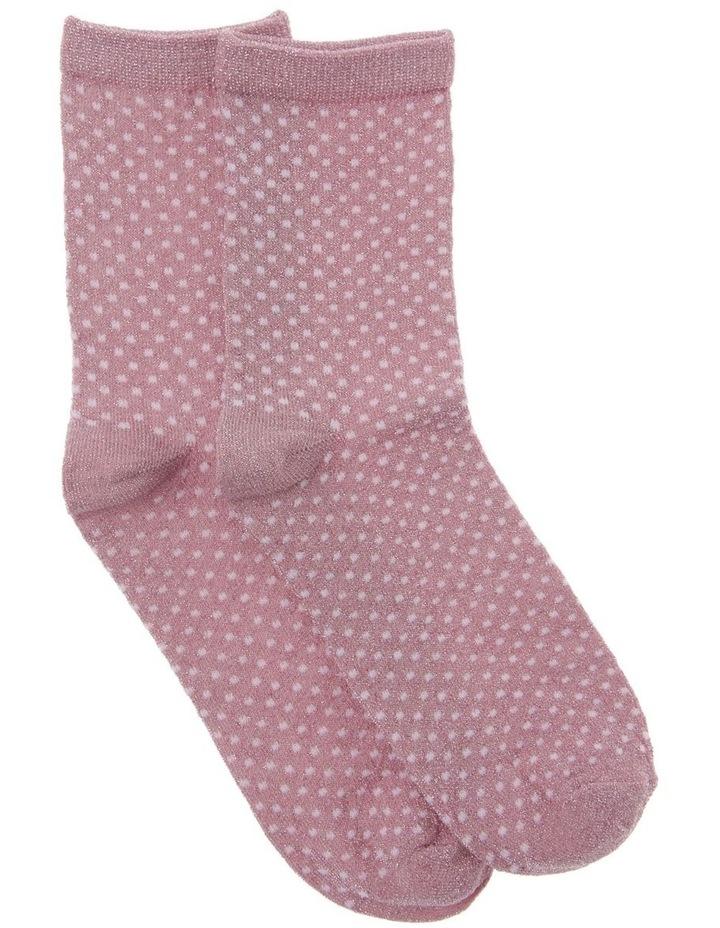 Lurex Polka Dot Socks image 1
