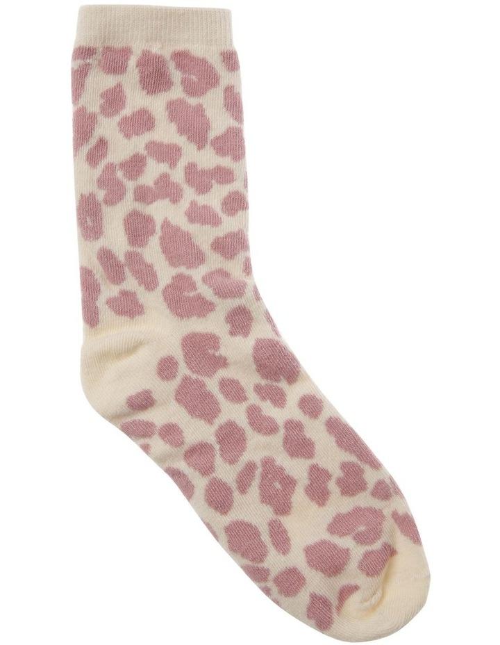 Pink Leopard Print Socks image 1