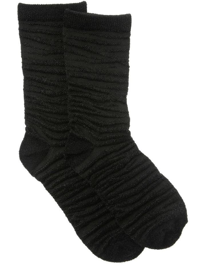Embroidered Zebra Socks image 1