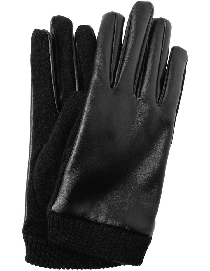 Leather Look Basic Gloves image 1