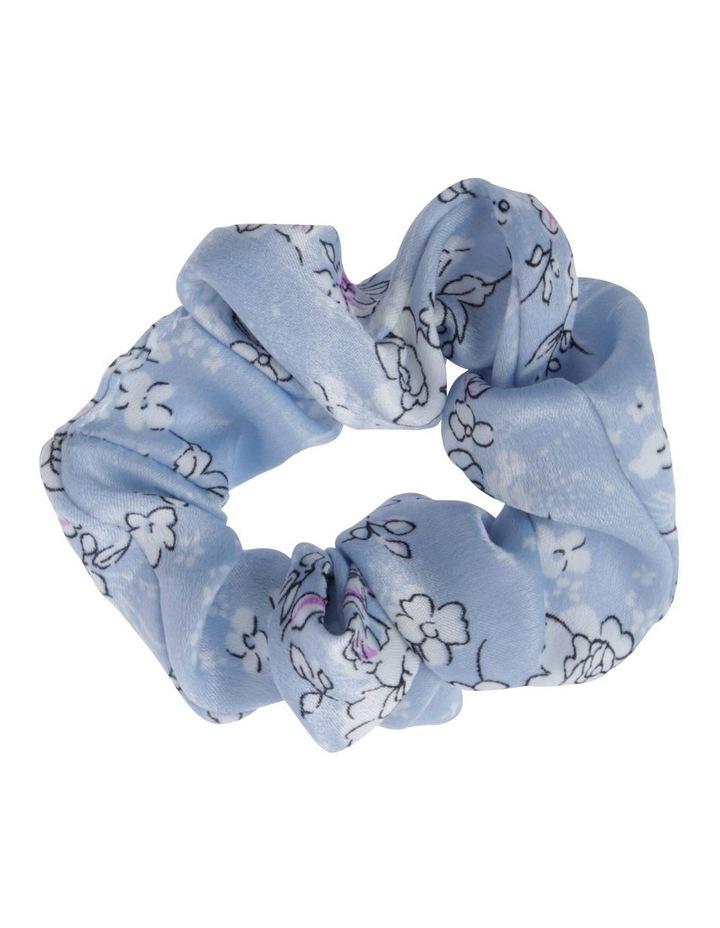 Light Blue Floral Scrunchie image 1
