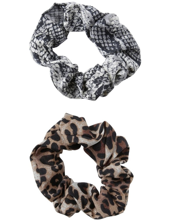 Animal Print Scrunchies 2 Pack Hair image 1