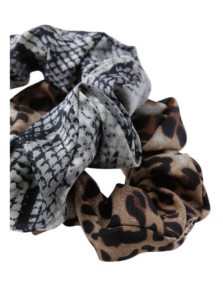 Animal Print Scrunchies 2 Pack Hair image 2