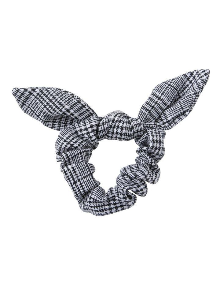 Bunny Ear Bow Printed Scrunchie Hair image 1