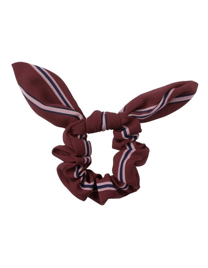 Bunny Ear Bow Printed Hair Scrunchie image 1