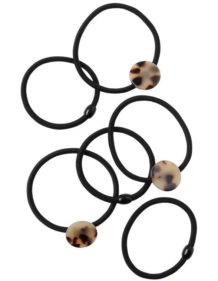Small Circle 6 Pack Hair Ties image 1
