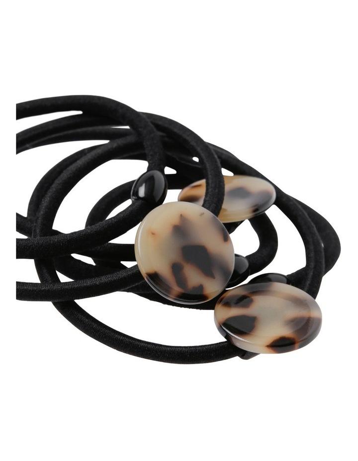 Small Circle 6 Pack Hair Ties image 2