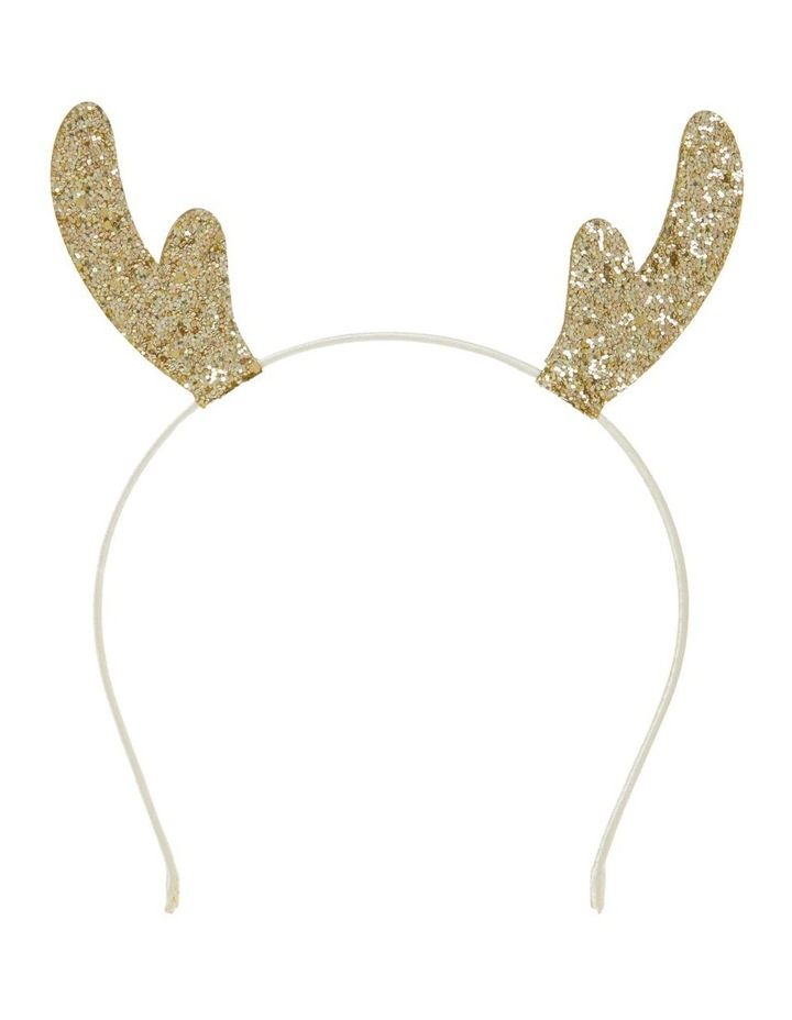 Glitter Reindeer Headband - Gold image 1