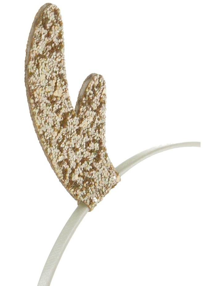 Glitter Reindeer Headband - Gold image 3