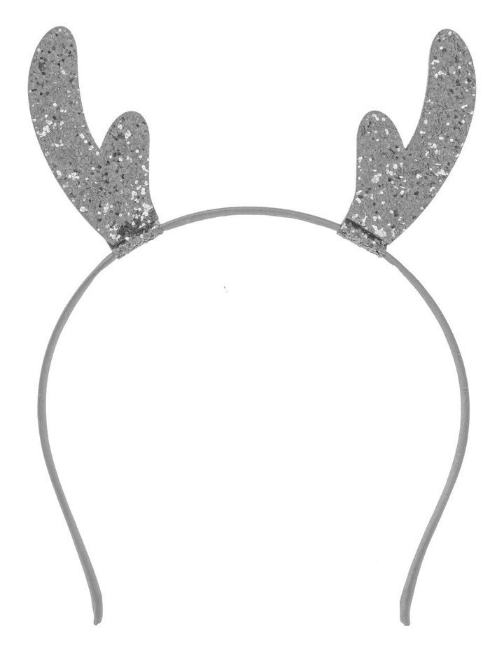 Glitter Reindeer Headband - Silver image 1