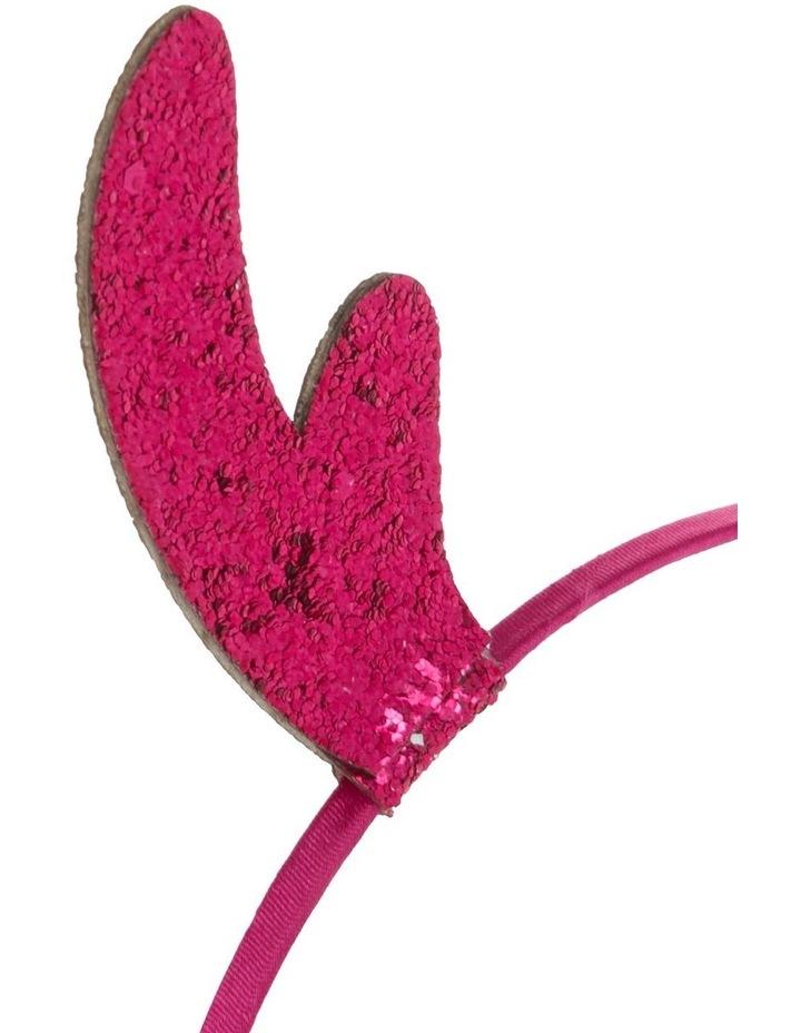 Glitter Reindeer Headband - Blush image 3
