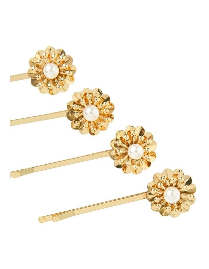 Flower Hair Pins 4 Pack image 3