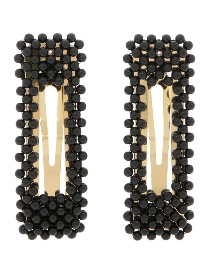 2 Pack Beaded Hair Clips image 1