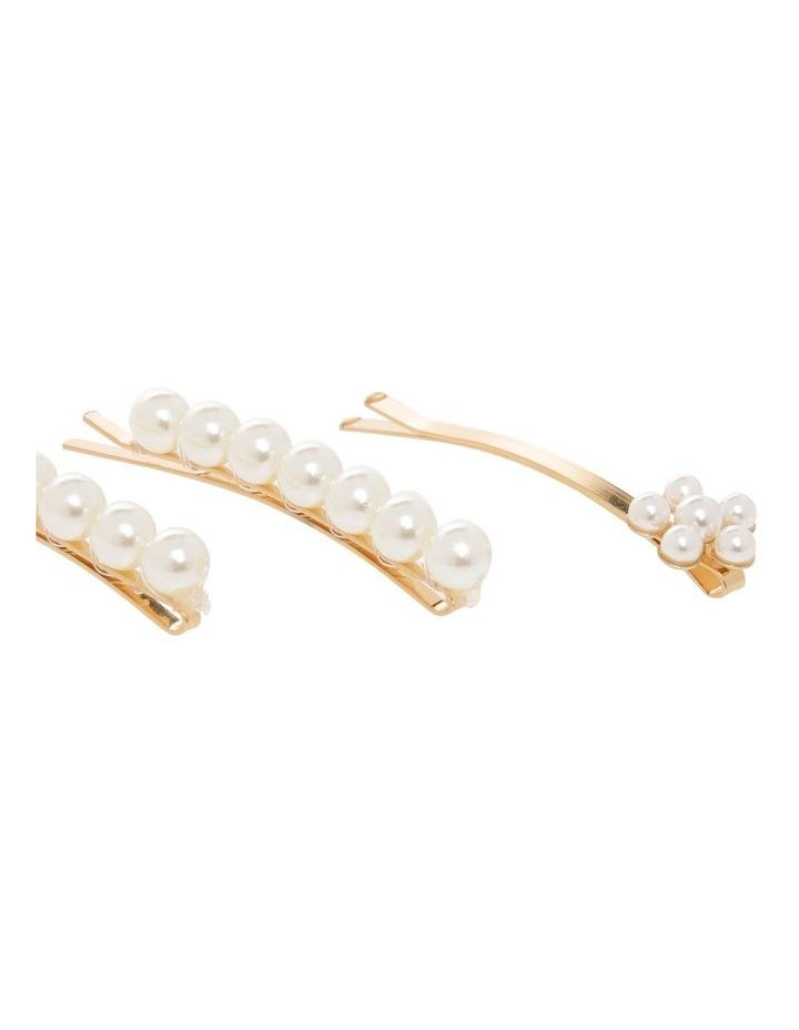 3 Pack Pearl & Flower Hair Pin image 3