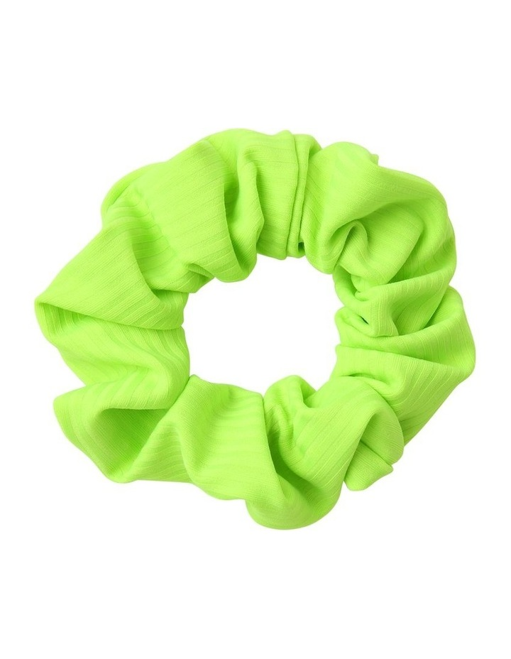 Ribbed Neon Scrunchie image 1