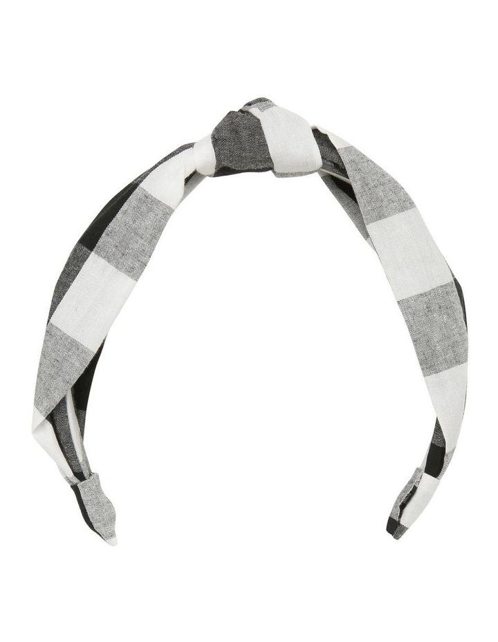 Oversize Check Knot Headband image 1
