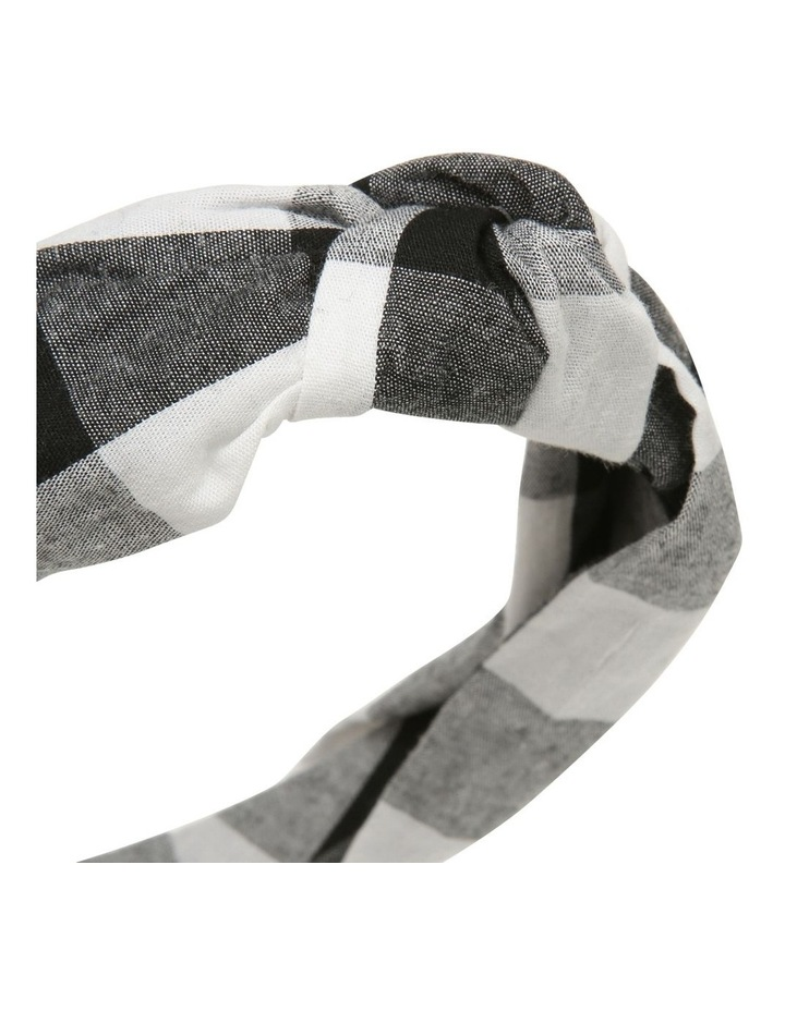 Oversize Check Knot Headband image 3