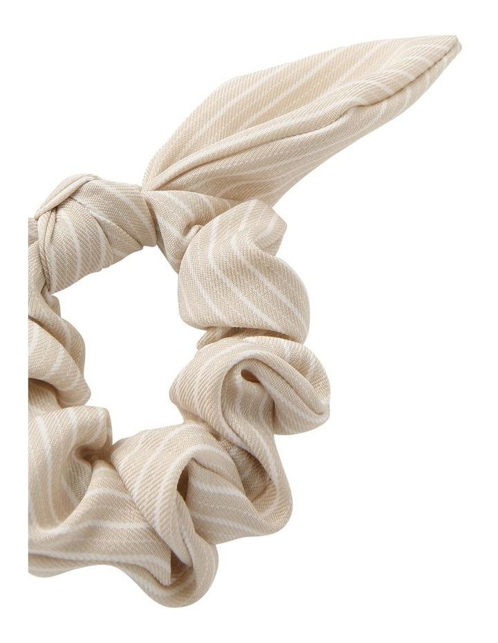Linen Stripe Bunny Ear Scrunchie image 2