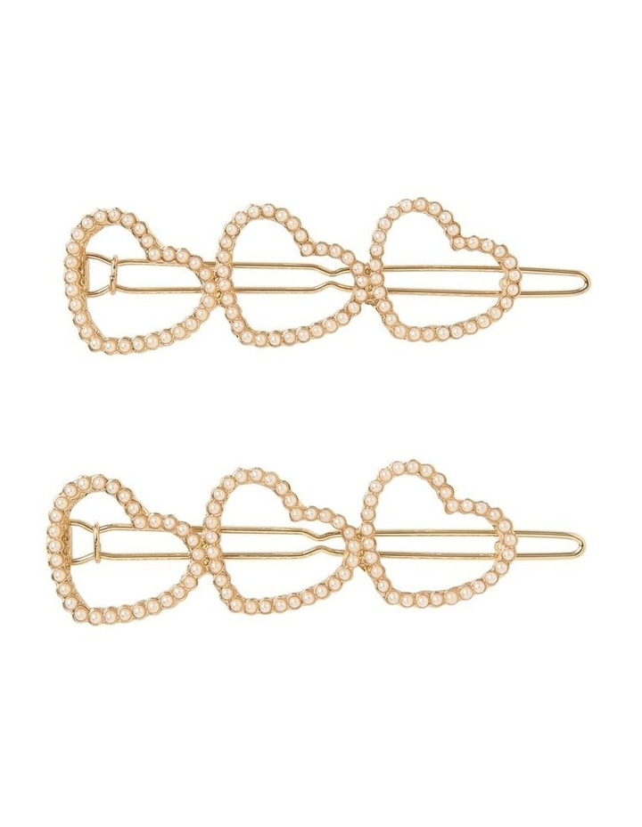 Linked Heart Pearl Clip image 1