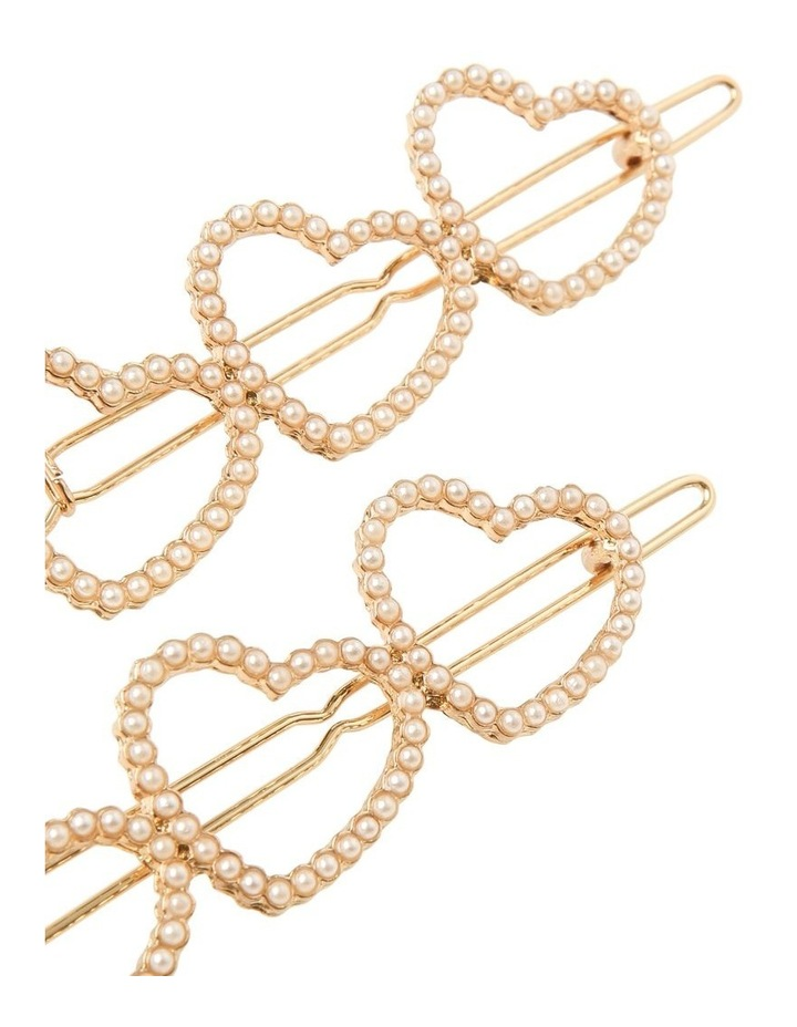 Linked Heart Pearl Clip image 3