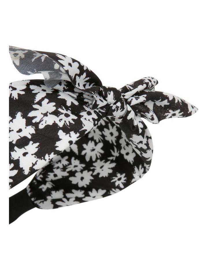 Bow Headband Black image 3