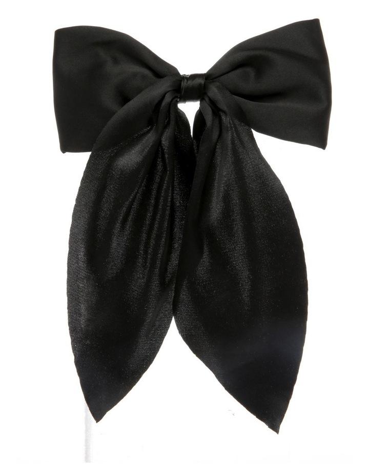 Classic Black Bow Barette image 1