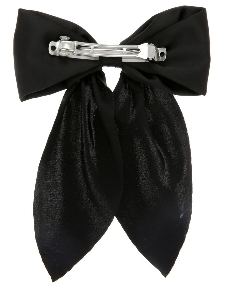 Classic Black Bow Barette image 2