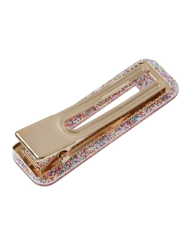 2 Pack Glitter Retangle Clip image 3