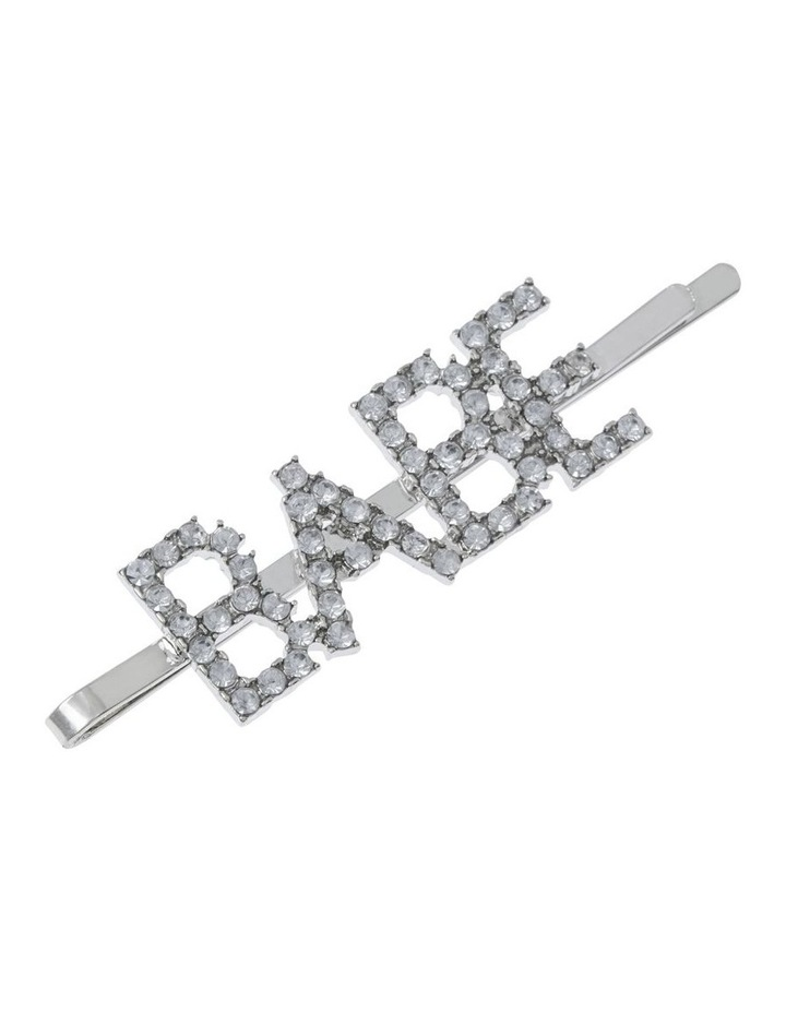 2 Pack Diamante Word Clip Hair Accessory image 2
