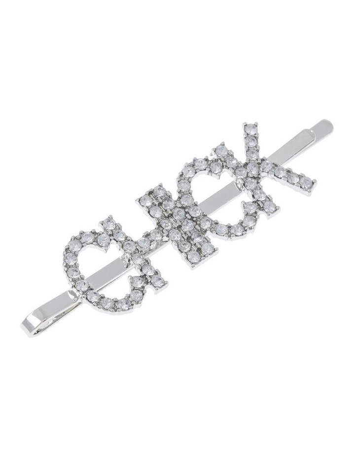 2 Pack Diamante Word Clip Hair Accessory image 3