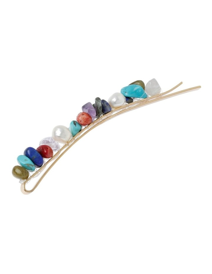 2 Pack Bead & Shell Clip Hair Accessory image 2