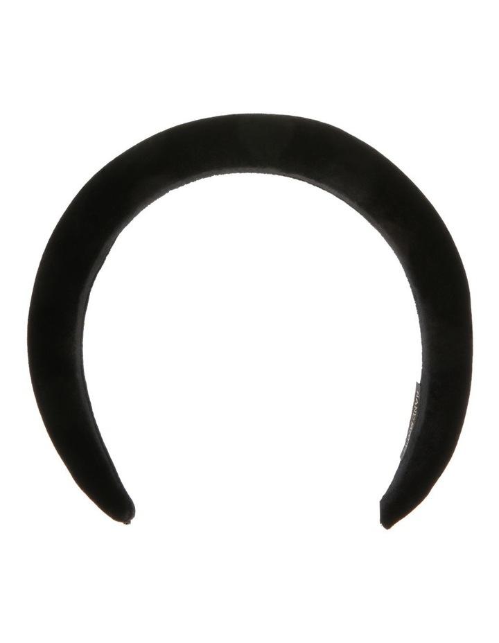Velvet-Padded Headband in Black image 1