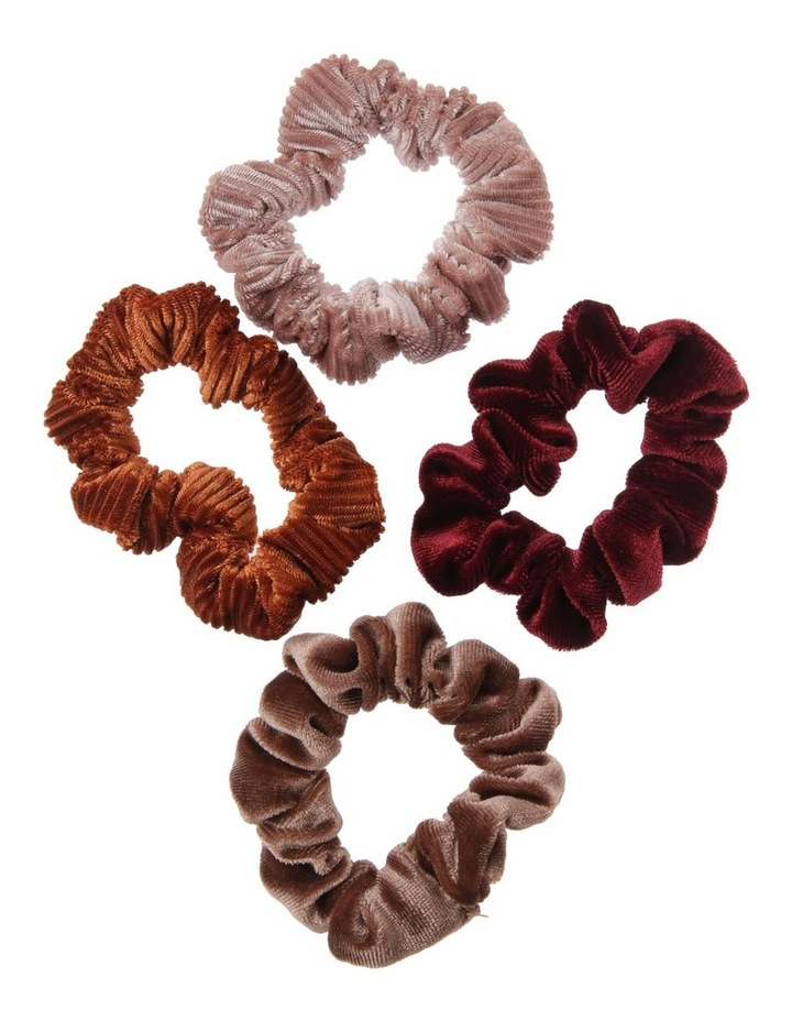 Velvet Mini Scrunchie 4 Pack image 1