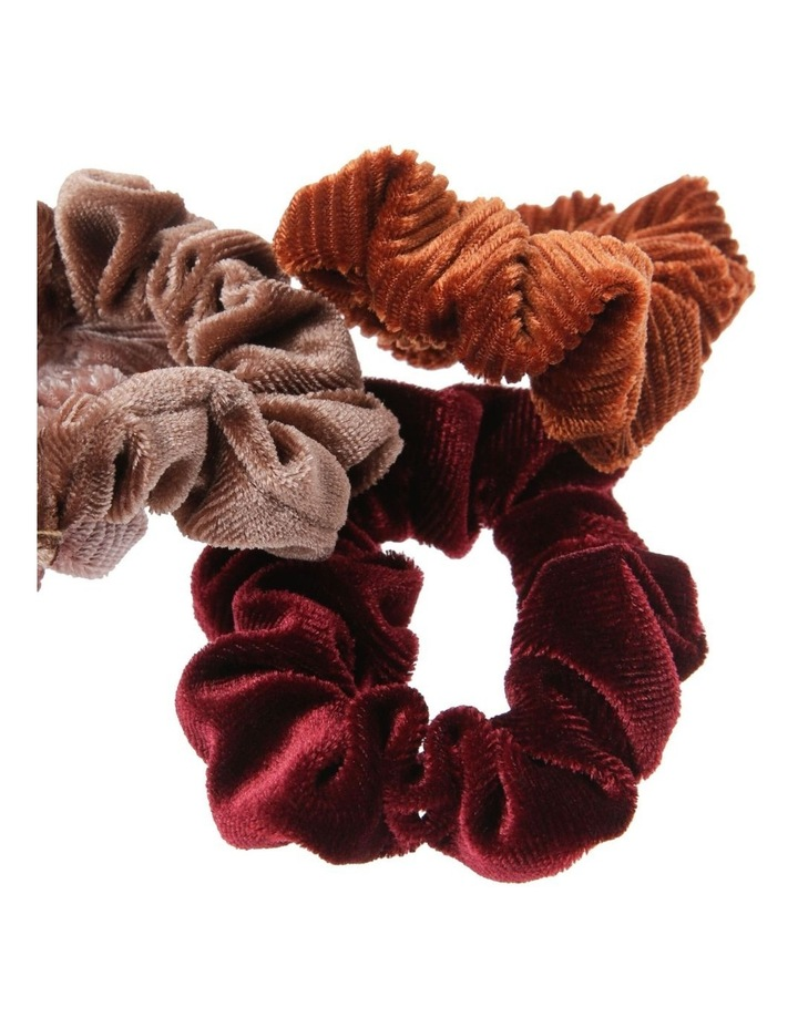 Velvet Mini Scrunchie 4 Pack image 2