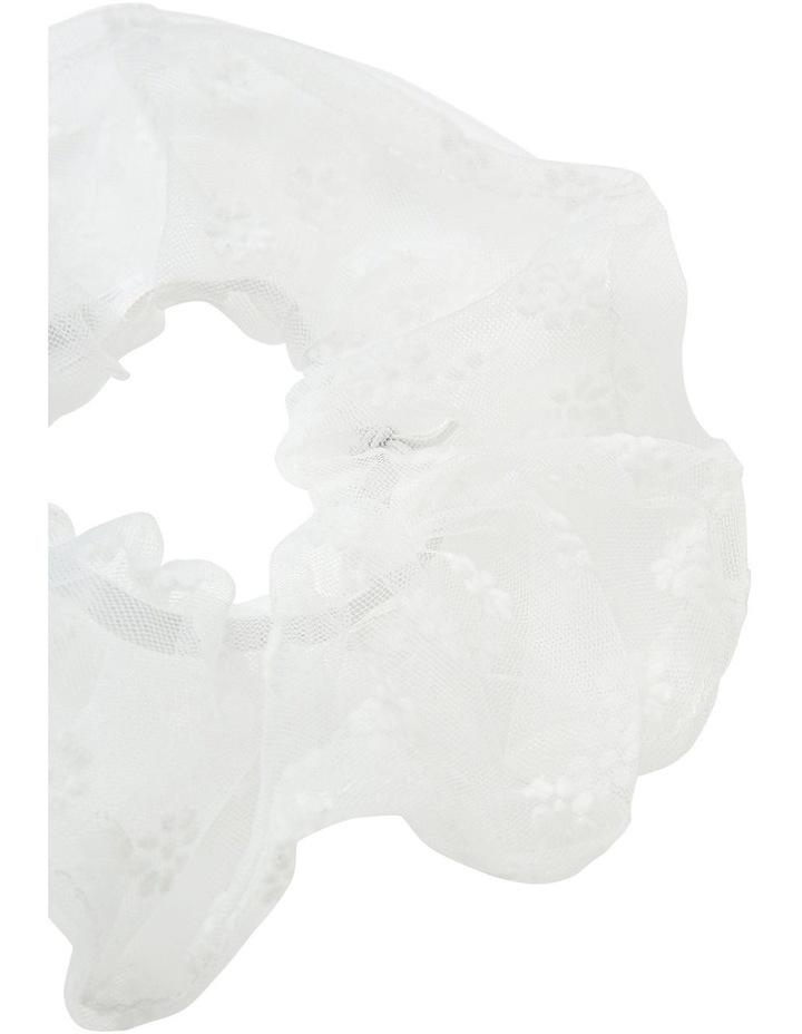 Oversized Sheer Floral Scrunchie image 2