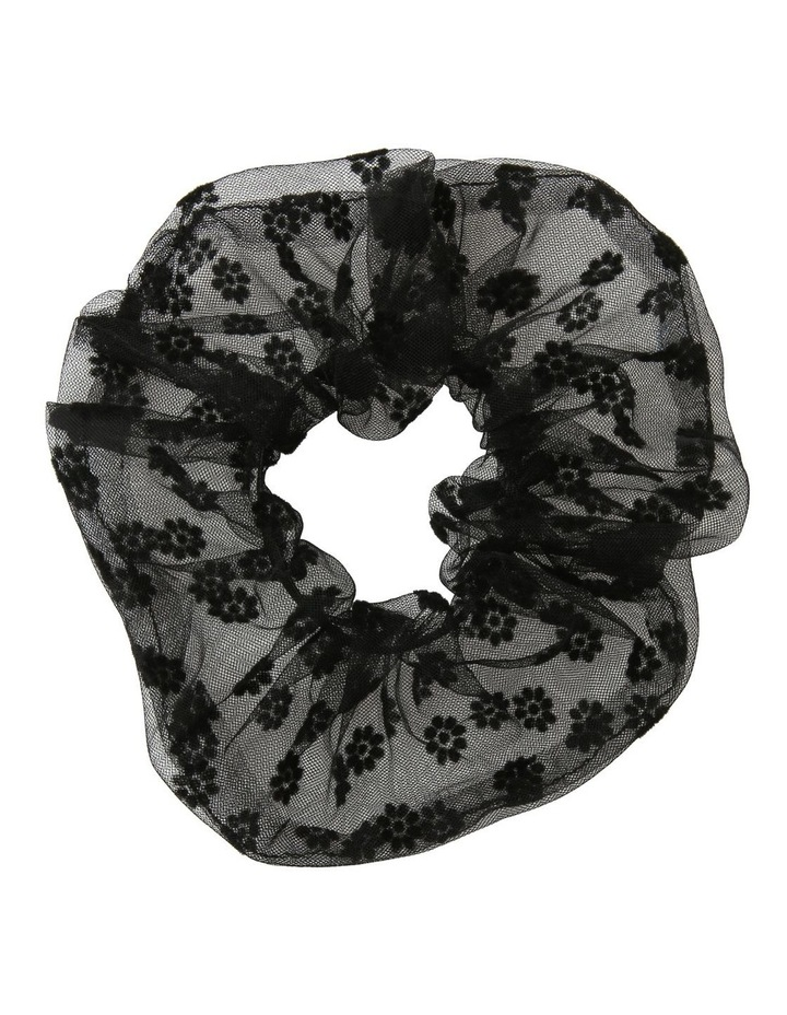 Oversized Sheer Floral Scrunchie Hair Accessory image 1