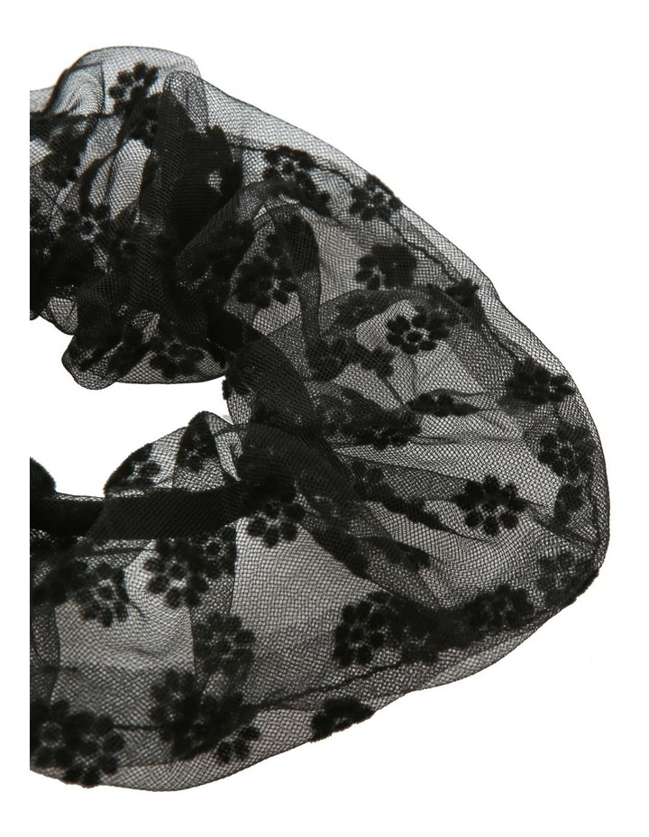 Oversized Sheer Floral Scrunchie Hair Accessory image 2