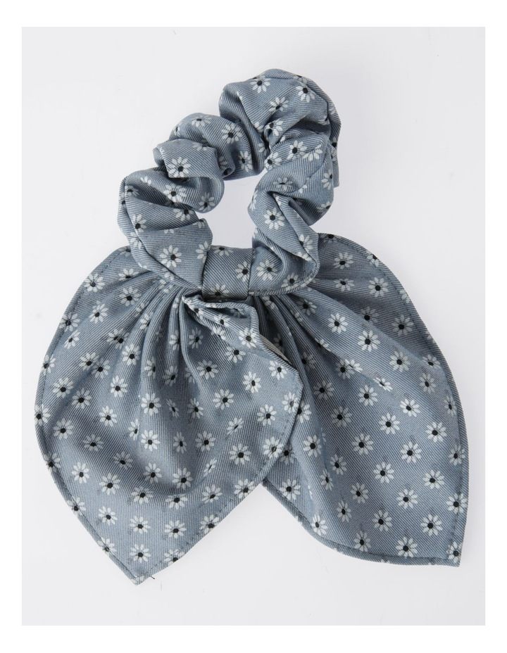 Bunny Ear Floral Print Scrunchie Hair Accessory image 1