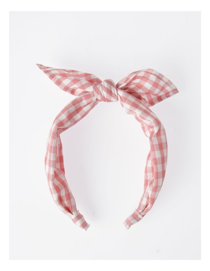 Gingham Bow Headband Hair Accessory image 1