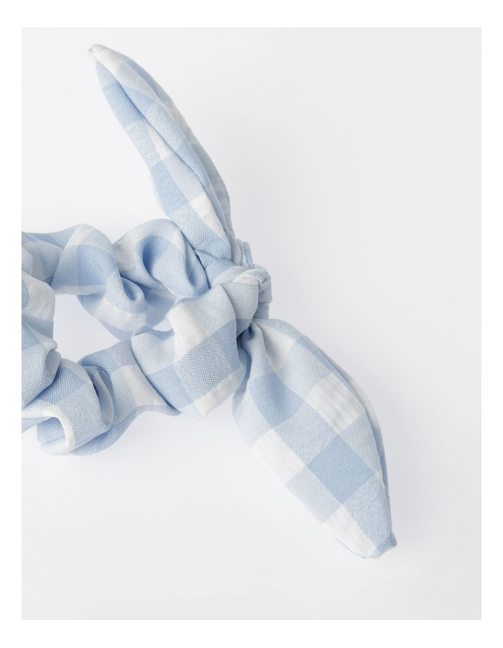 Gingham Bunny Ear Scrunchie image 2