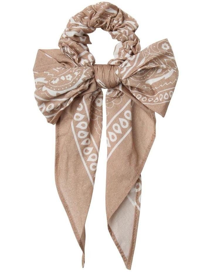 Bandana Print Bow Scrunchie Hair Accessory image 1