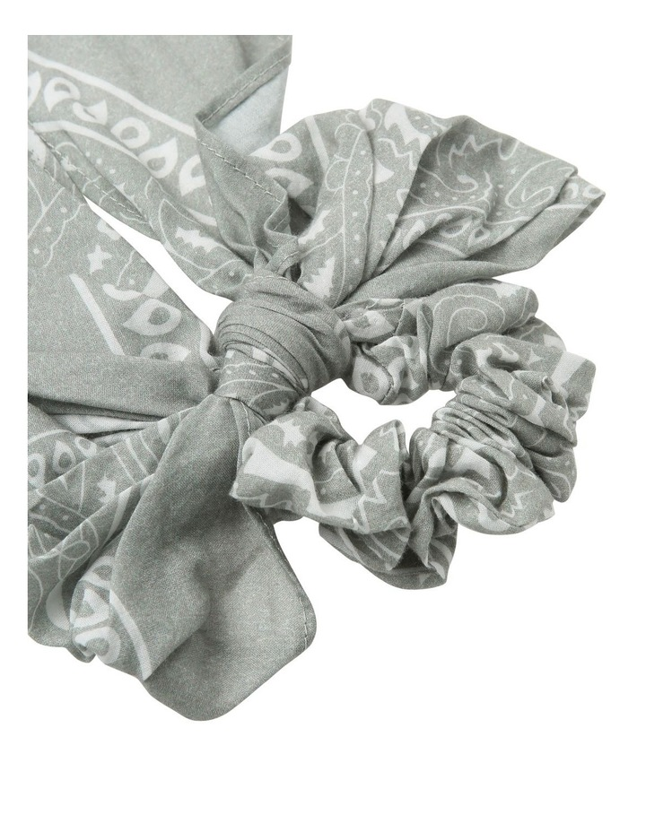 Bandana Print Bow Scrunchie Hair Accessory image 2