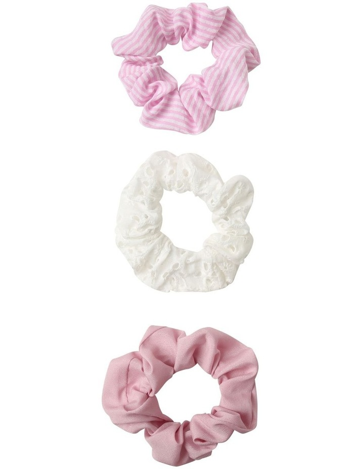 Broidery Scrunchie 3 Pack Hair Accessory image 1