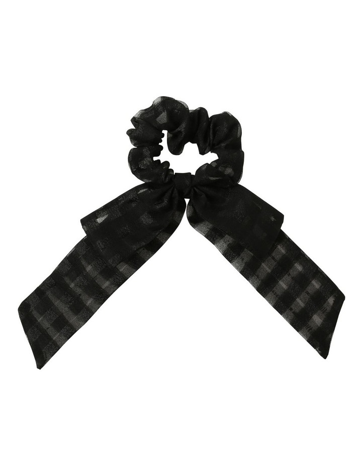 Black Sheer Bow Scrunchie image 1