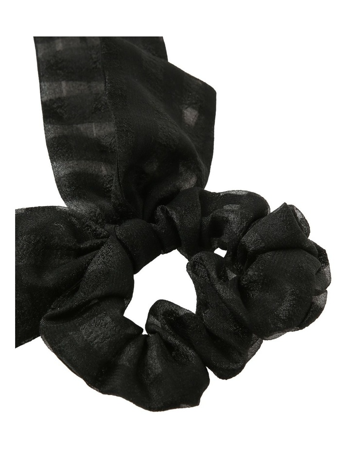 Black Sheer Bow Scrunchie image 2