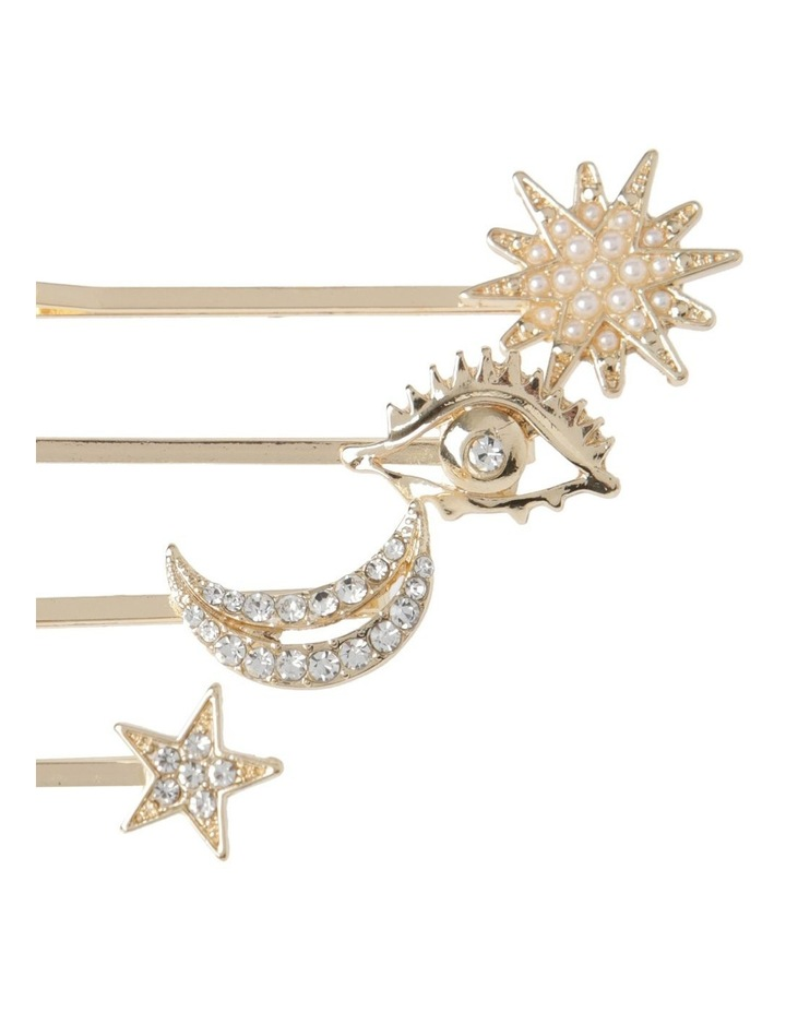 4 Pack Star And Moon Hair Pin Hair Accessory image 2