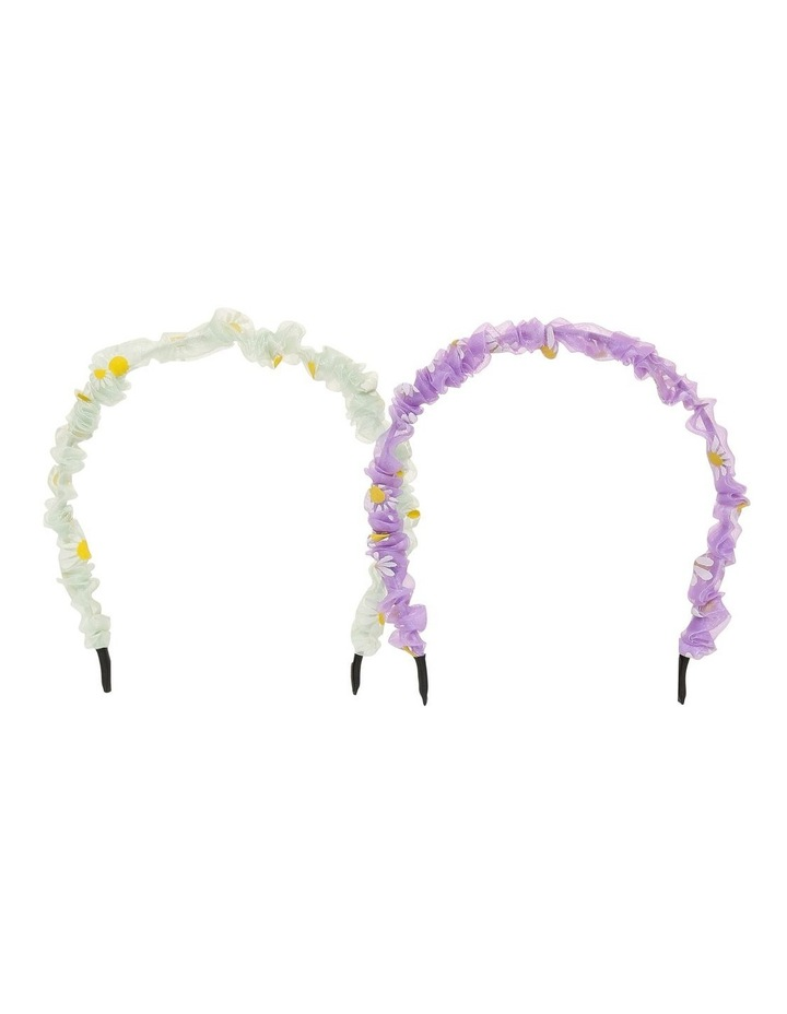 Daisy Embroidered Headband Twin Pack Hair Accessory image 1